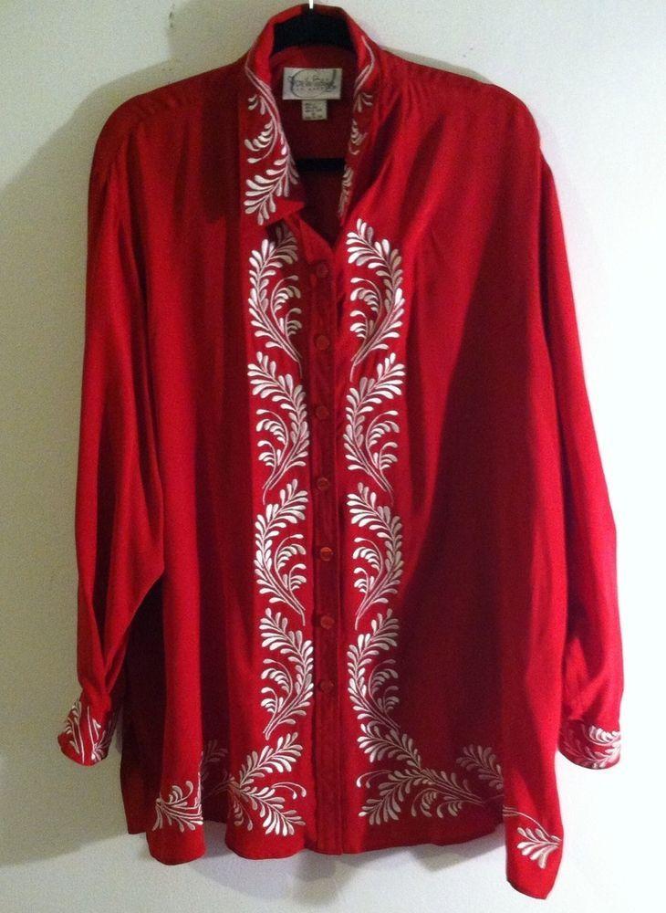Woman Blouse Silk Plus Size 2X By Diane Von Furstenberg #DVF #Blouse #EveningOccasion