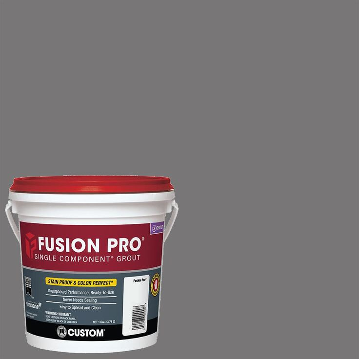 Custom Building Products Fusion Pro #19 Pewter 1 Gal. Single Component Grout