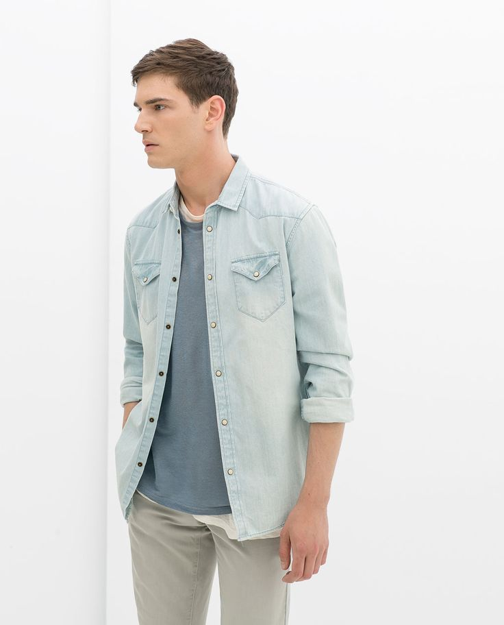 Image 1 of DENIM SHIRT from Zara