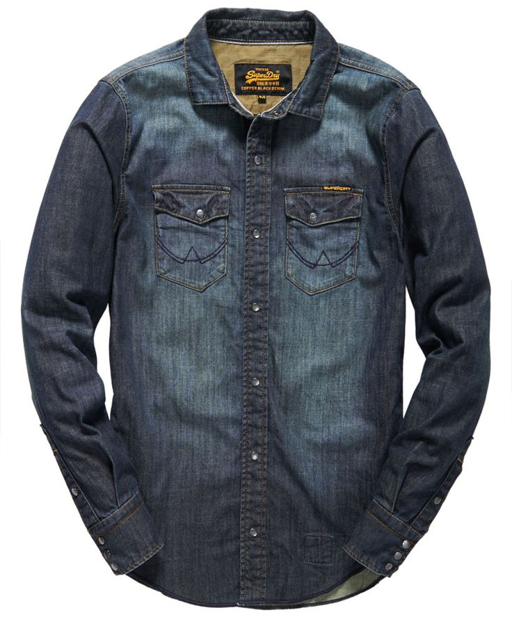 Mens - Corporal Denim Shirt in Dirty Antique   Superdry