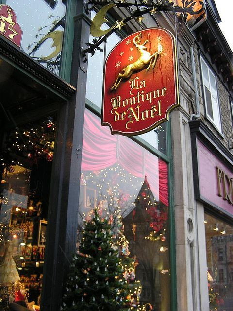Old Quebec City ~ Christmas Store.