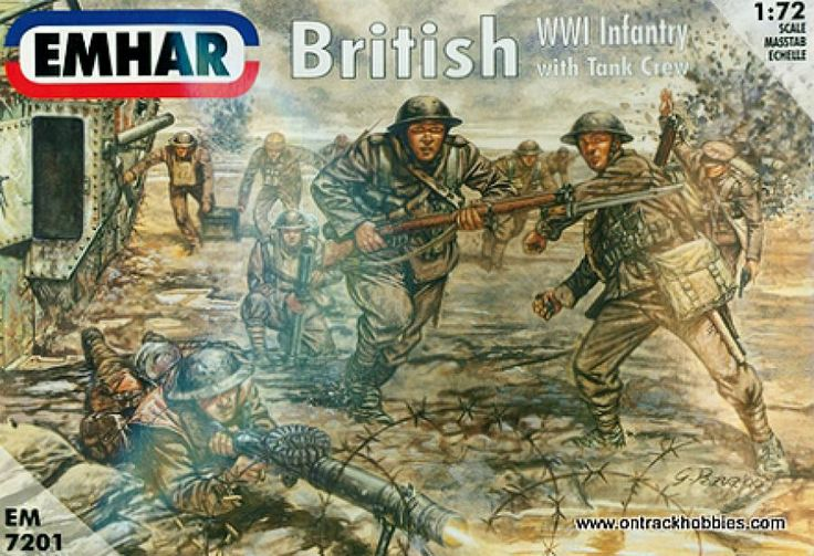British Infantry and Tank Crew--1:72nd scale unpainted plastic figures