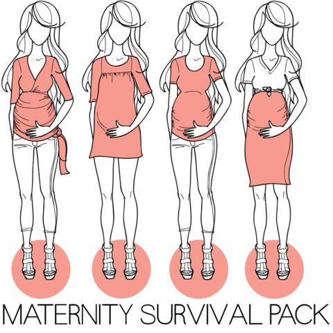 Maternity Survival Pack clothing patterns - for those of you who like to sew!