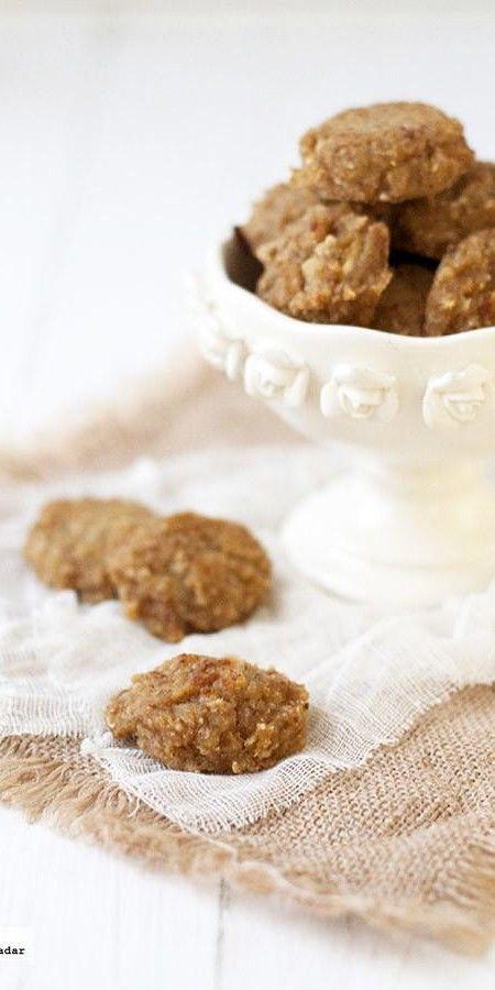 Receta de galletas de avena y manzana sin huevo, azúcar y lácteos
