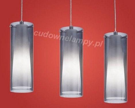 Lampa wisząca PINTO NERO Kolor: nikiel matt, biały, czarny transparentny  3xE27 Szerokość: 72,5 cm Wysokość: max 110 cm
