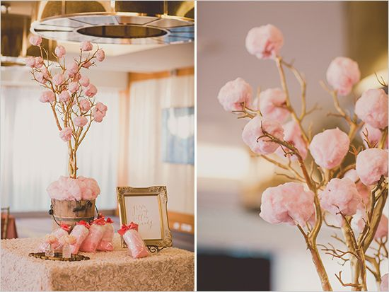 cotton candy tree @weddingchicks