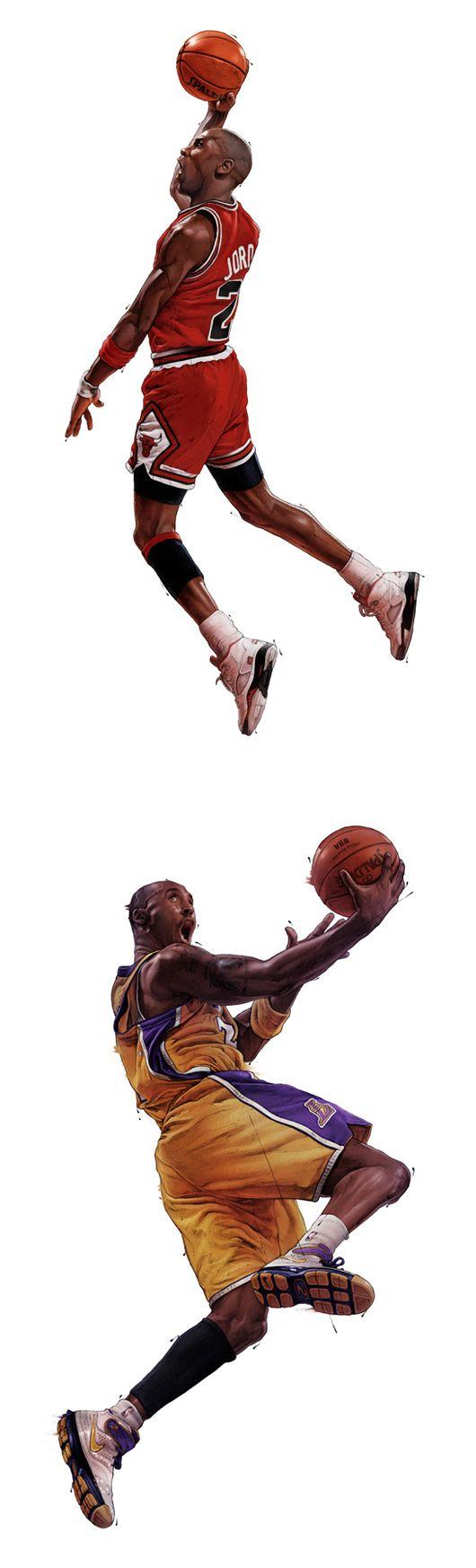 NBA Illustrations by Grzegorz Domaradzki