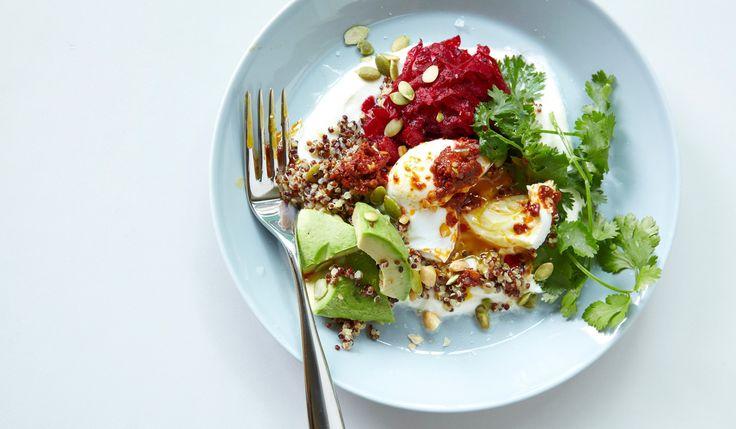 Recipe: Bill Granger's buckwheat bowl : The man behind Australia's favourite breakfasts shares the recipe for his buckwheat bowl with Greek yoghurt, avocado, alfalfa sprouts, eggs and rose harissa