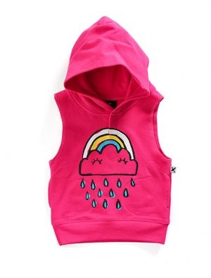 Buy Minti Baby Sleeveless Hood Cloud Hot Pink