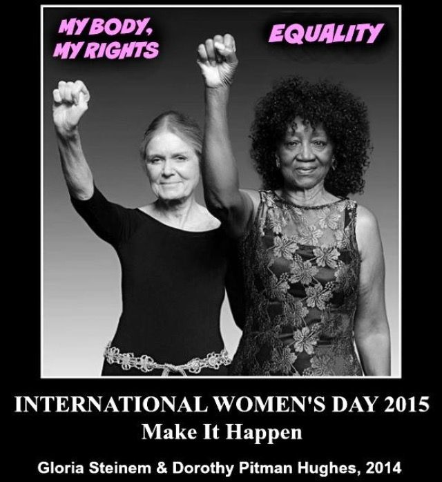 Too bad 50 years later we are still fighting. 13 states have STILL not ratified the Equal Rights Amendment. Women STILL do not get equal pay. And we STILL get shamed, and our reproductive rights STILL get legislated against, while men get insurance paid Viagra, and condoms and vasectomies are not banned by either Church or State.