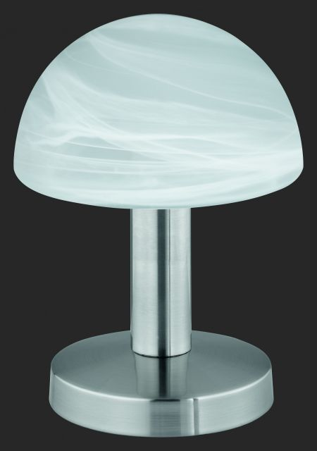 5990 - TRIO - dotyková lampa - matný nikel - biely alabaster