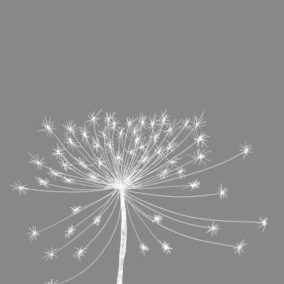Rouwkaart bloemsilhouet wit - Rouwkaarten - Kaartje2go | design by Hilde Reurink