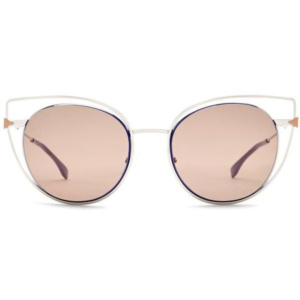 8c39cd3f854d Fendi Gold Purple New Women's Limited Cutout Cat Eye Sunglasses... ($260)