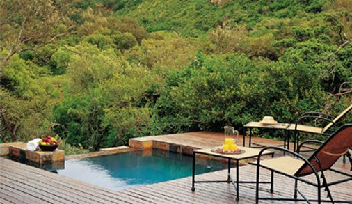 Each suite at Shamwari Eagle's Crage has its own private plunge pool- South Africa