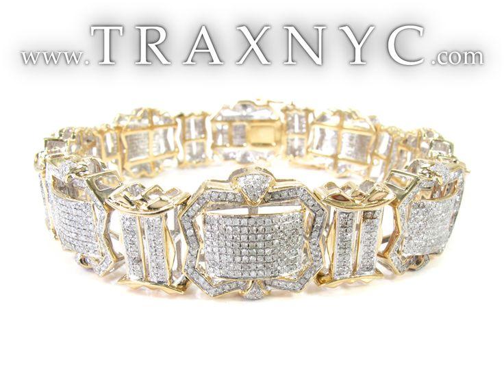 diamonds braclets for men   Mercury Diamond Bracelet Mens Diamond Bracelet Yellow Gold 10k Round ...