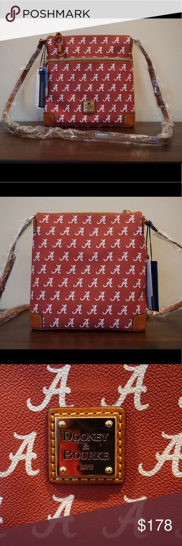 Selling this Alabama Crimson Tide Dooney & Bourke Purse on Poshmark! My username is: valleyvalerie. #shopmycloset #poshmark #fashion #shopping #style #forsale #Dooney & Bourke #Handbags