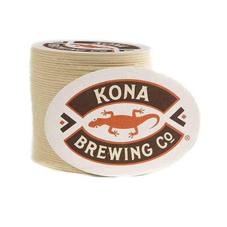 Kona Brewing Co. Logo 40PT Recycled Coasters-100 PK
