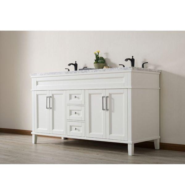 Stufurhome Ty 300 59 288mb 59 In Bathroom Vanity Double Sink