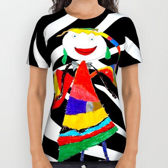 #ShareMySociety6 @society6 #Summer2017 #reiki #yoga #meditation #zebra #rainbow #fairy #pop #art #wallart #leggings  https://society6.com/product/rainbow-zebra-fairy-society6_all-over-print-shirt