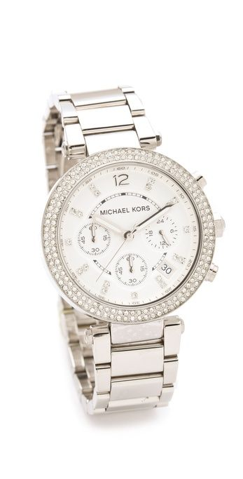 Michael Kors Silver Watch - Got this from hubby for our 13th anniversary and I love it!