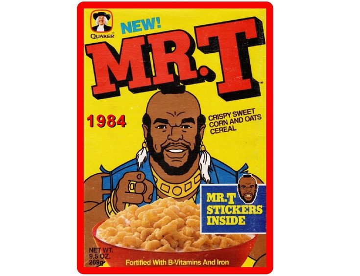 Mr t cereal box quaker oats refrigerator tool box magnet