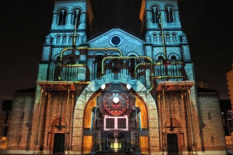 Video Show with 3D Mapping and Sounds at Catedral Metropolitana de Medellin