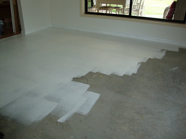 Cleaning painted concrete floors thefloors co for How to clean cement floors in house