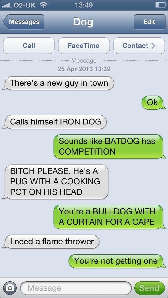 I love texts from dog