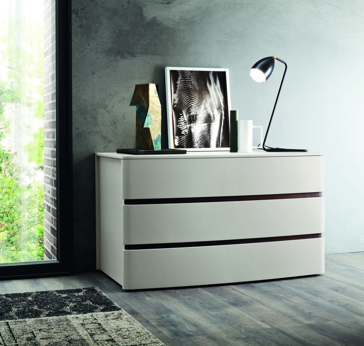 Zanette Glam colours wide 3 drawer chest of drawers Italian   Robinsons Beds