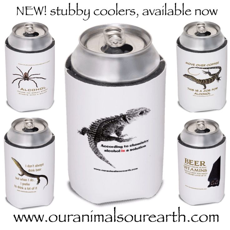 Stubby coolers available from www.ouranimalsourearth.com