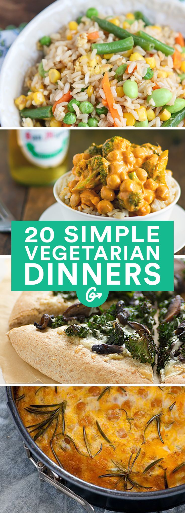 These simple recipes prove that sometimes less is more. #easy #vegetarian #recipes http://greatist.com/eat/vegetarian-recipes-with-five-or-fewer-ingredients