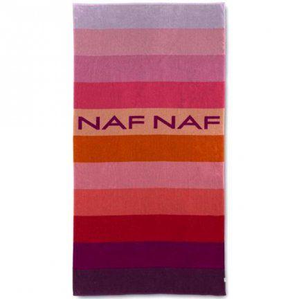 Ręcznik plażowy NAF NAF - Balboa - różowo-fioletowy