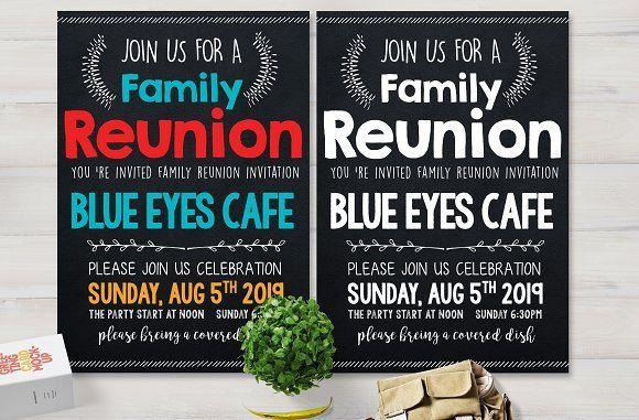 Family Reunion Flyers Templates Family Reunion Party Flyer Card Templates Creative Market Party Flyer Family Reunion Invitations Templates Family Reunion