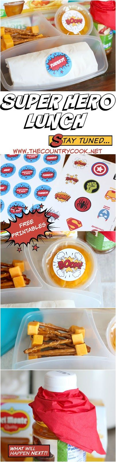 Back-to-School Super Hero Lunch idea including FREE PRINTABLES! & $50 Grocery Gift Card Giveaway from DelMonte Fusions! #SharetheSuper #BacktoSchool #Sweepstakes #mom #crafts #project