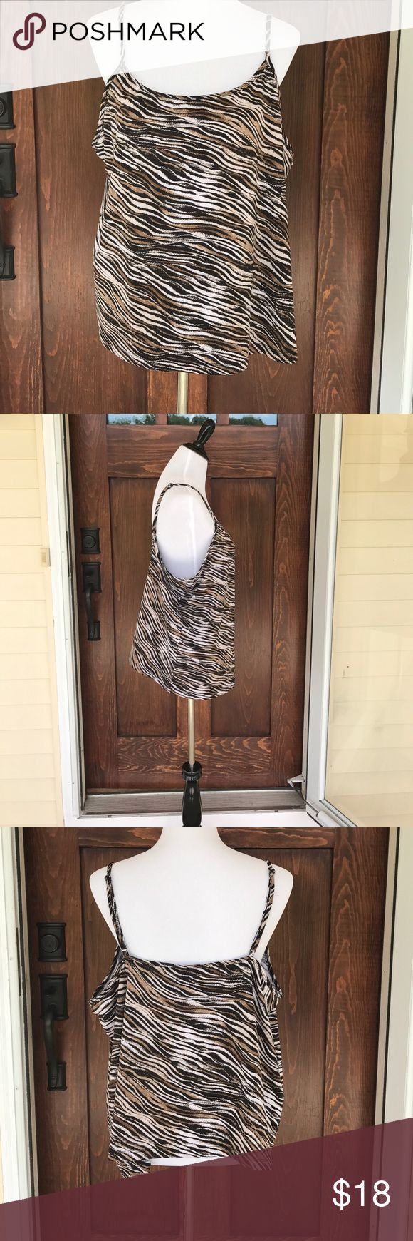 Lane Bryant Animal print stretchy tank/ cami top Adorable and comfortable tank/cami from Lane Bryant. Lane Bryant Tops Camisoles