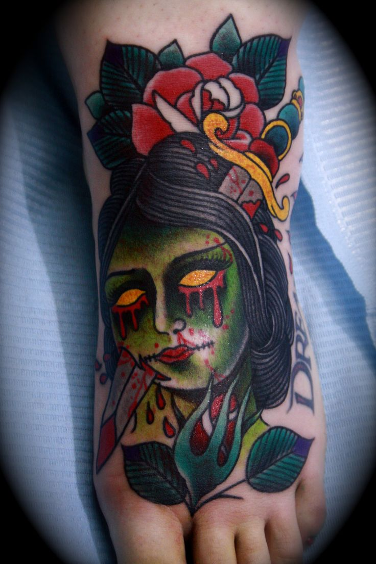 traditional tattoos | TRADITIONAL ZOMBIE GIRL!!!
