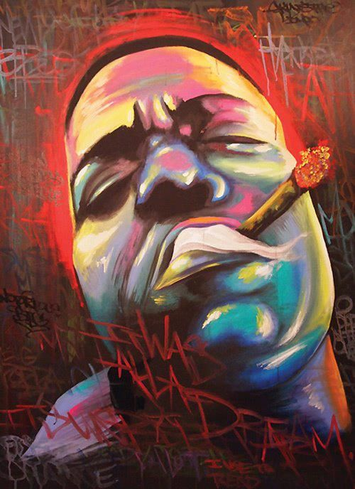 """Notorious B.I.G art """"Biggie, Biggie, Biggie can't you see. Sometimes your words just hypnotize me"""""""