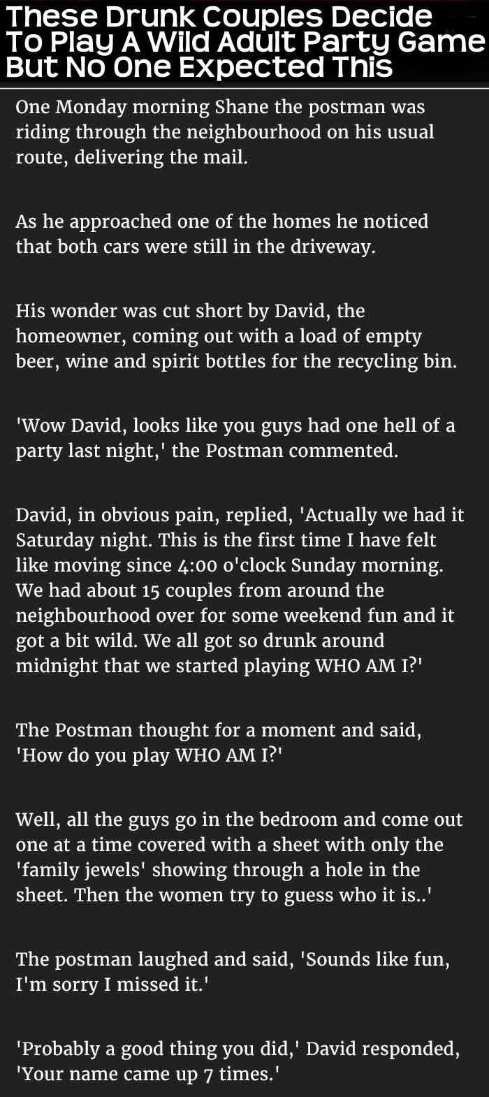 These Couples Decide To Play A Wild Adult Party Game But Never Expected This funny jokes story lol funny quote funny quotes funny sayings joke humor stories dirty jokes funny jokes