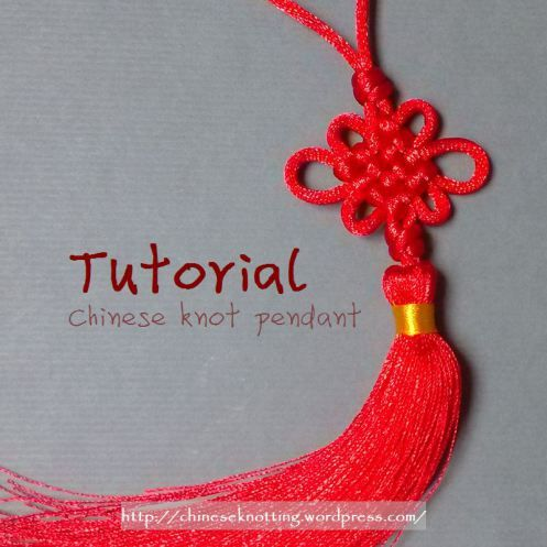 This simple pendant with tassels can decorate your purse and handbags. chineseknotting.wordpress.com