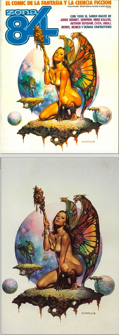 BORIS VALLEJO - Butterfly - Zona 84 #26 - Toutain Editor - cover by Google - print by vallejo.ural.net