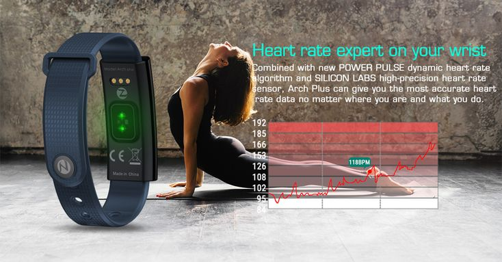 Zeblaze Arch Plus Dynamic Heart Rate Multi-language Stopwatch Pedometer Smart Watch for iOS Android
