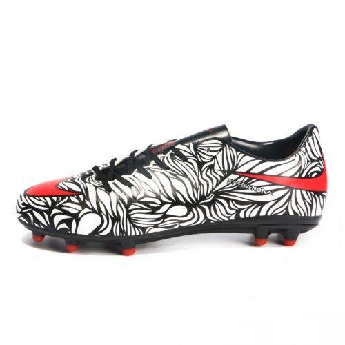 Nike Hypervenom Phatal II Neymar FG Football Boots-BlackBright CrimsonWhite