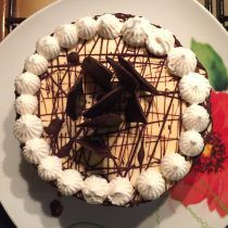 torta bavarese al cocco e alle pesche con base di biscuit al savoiardo e bagna…