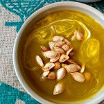 Butternut Squash & Poblano Soup With Ghee Roasted Squash Seeds | Naive Cook Cooks