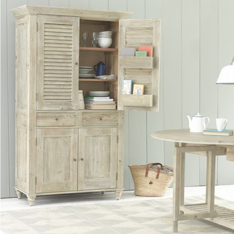 SUPER SUCRE KITCHEN CUPBOARD A new incarnation of our immensely popular Sucre sideboard, this heavenly beached timber larder is a kitchenista's dream. Pass the sugar...