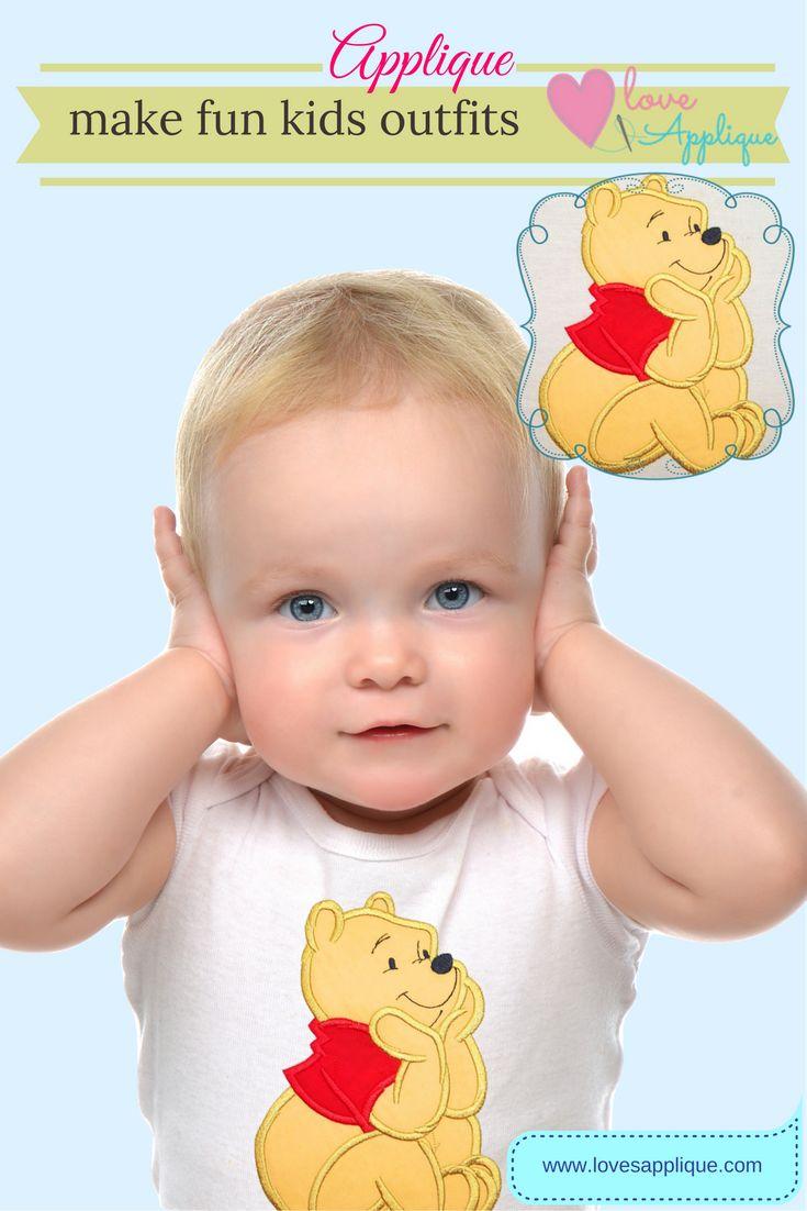 Winnie The Pooh Applique. Winnie the pooh outfits, Winnie the Pooh Party Ideas. Winnie the pooh embroidery designs. Pooh bear and Friends. Disney Applique Designs. www.lovesapplique.com