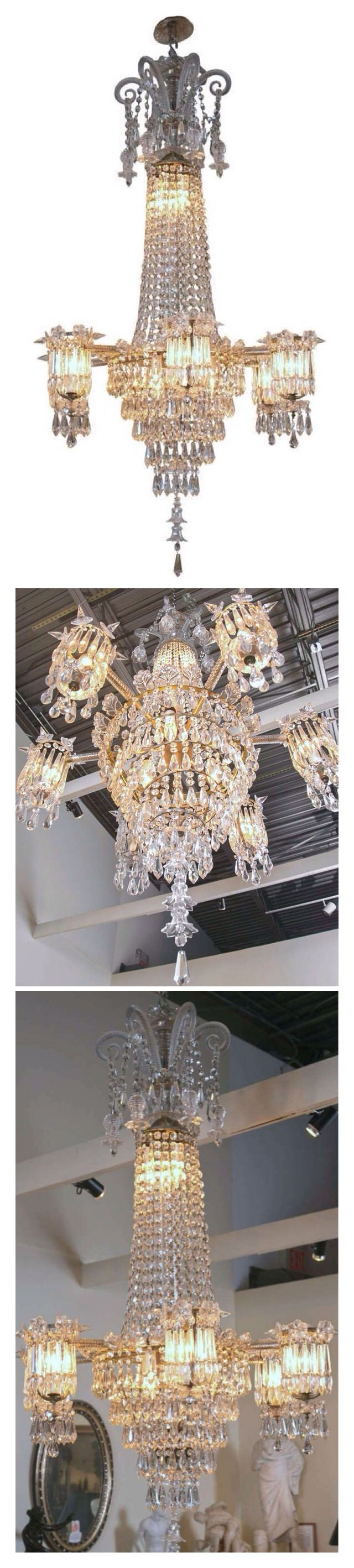 259 best light the night fantastic images on pinterest english william iv early 19th century crystal chandelier 1stdibs arubaitofo Gallery
