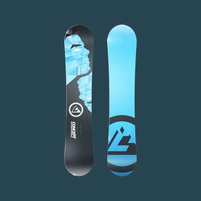 Concept Snowboarding, Custom snowboards with personal graphics by Saber Design