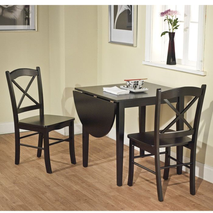 August Grove Wisteria 3 Piece Dining Set Reviews Wayfair Drop Leaf Dining Table Dining Table Setting Breakfast Nook Dining Set
