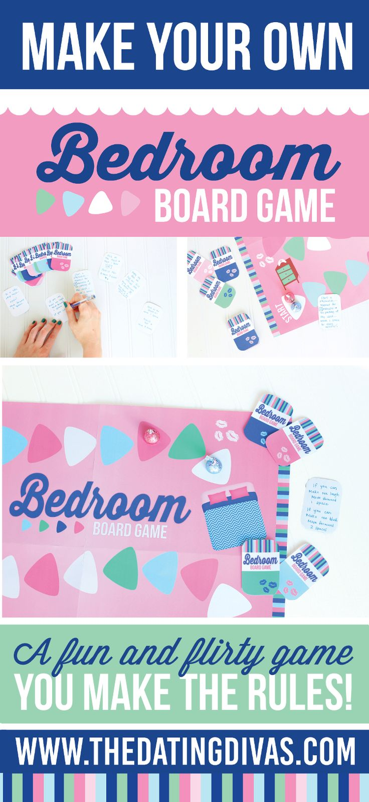 This DIY bedroom board game is something my husband would be so on board with! I can't wait to play! www.TheDatingDivas.com